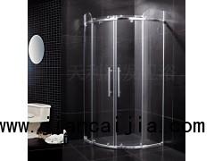 广东弧扇形淋浴房玻璃推平隔断门诚招全国经销商免加盟费